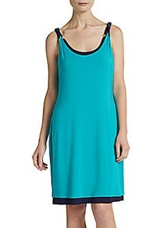 Calvin Klein Swim Bi-Colored Knee-Length Coverup