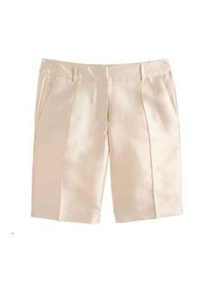 Collection silk shantung bermuda short