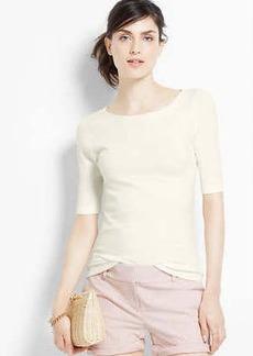 Tie Back Short Sleeve Sweater