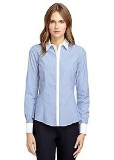 Non-Iron Tailored Fit Thin Stripe Dress Shirt