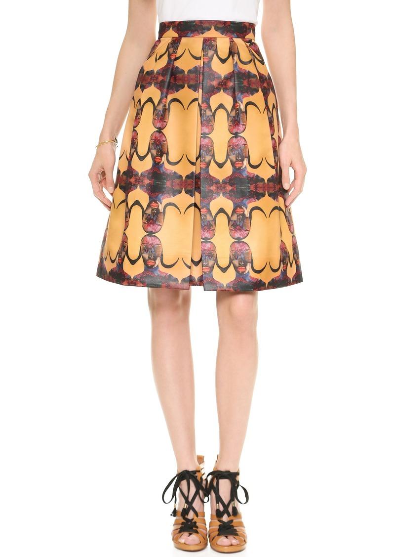 Born Free Prada Pleated Skirt