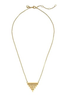 Hinged triangle necklace