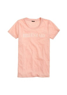 Linen bridesmaid tee