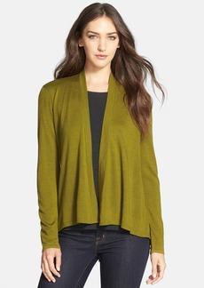 Eileen Fisher Angle Front Long Wool Cardigan (Regular & Petite)