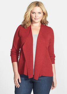 Eileen Fisher Angled Front Shaped Cardigan (Plus Size)