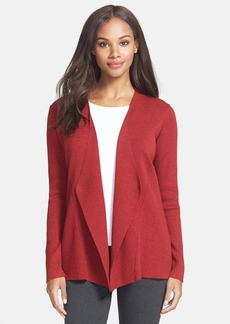 Eileen Fisher Angled Front Shaped Cardigan (Regular & Petite)