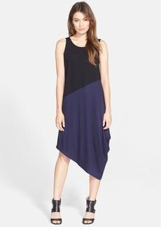Eileen Fisher Asymmetrical Colorblock Jersey Dress (Regular & Petite)