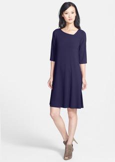 Eileen Fisher Asymmetrical Neck Jersey Dress