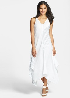 Eileen Fisher Asymmetrical V-Neck Linen Dress