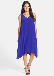 Eileen Fisher Asymmetrical V-Neck Silk Dress