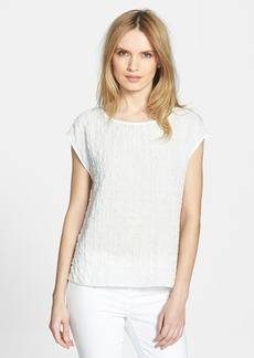 Eileen Fisher Ballet Neck Cap Sleeve Top