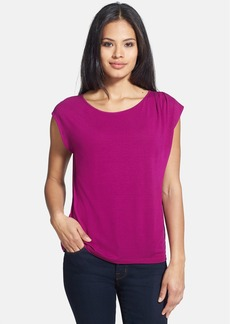 Eileen Fisher Ballet Neck Cap Sleeve Top (Regular & Petite)