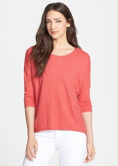 Eileen Fisher Ballet Neck Hemp & Organic Cotton Wedge Top