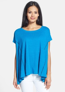 Eileen Fisher Ballet Neck Organic Linen Top