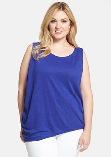 Eileen Fisher Ballet Neck Organic Linen Top (Plus Size)