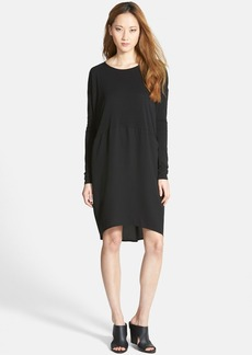 Eileen Fisher Ballet Neck Silk Dress (Online Only)