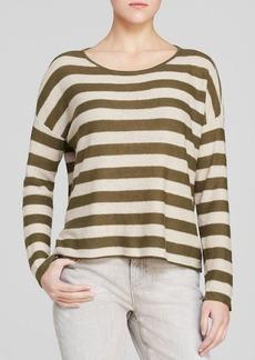 Eileen Fisher Ballet Neck Striped Sweater