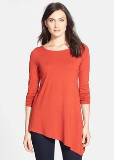 Eileen Fisher Bateau Neck Asymmetrical Jersey Tunic (Regular & Petite)