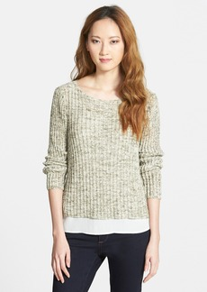 Eileen Fisher Bateau Neck Cotton Boxy Top (Online Only)