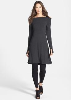 Eileen Fisher Bateau Neck Fit & Flare Dress (Regular & Petite)