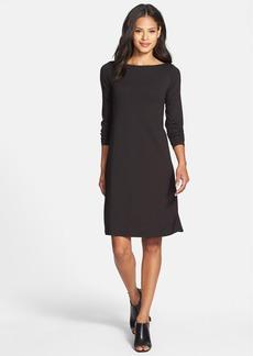 Eileen Fisher Bateau Neck Jersey Dress (Regular & Petite)