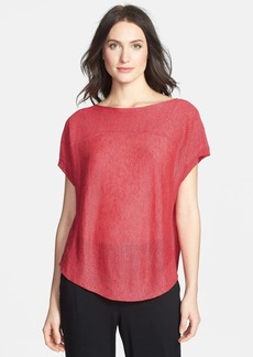 Eileen Fisher Bateau Neck Linen Knit Top