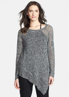 Eileen Fisher Bateau Neck Linen Tunic Sweater