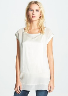 Eileen Fisher Bateau Neck Mixed Media Top (Regular & Petite)