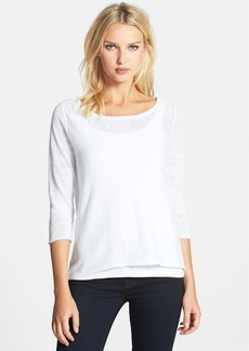 Eileen Fisher Bateau Neck Organic Linen Top (Regular & Petite)
