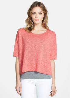 Eileen Fisher Bateau Neck Slub Linen & Cotton Sweater (Regular & Petite)