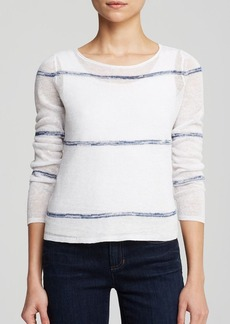 Eileen Fisher Boat Neck Boxy Linen Sweater