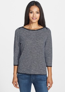 Eileen Fisher Boatneck Stripe Sweater