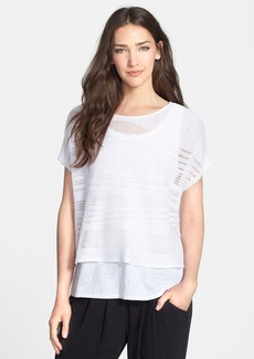 Eileen Fisher Boxy Organic Linen Crop Top (Regular & Petite)