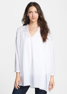 Eileen Fisher Bracelet Sleeve Woven Organic Cotton Tunic