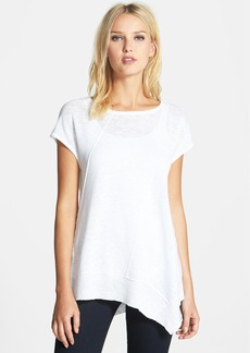 Eileen Fisher Cap Sleeve Organic Linen & Cotton Scoop Neck Top (Regular & Petite)