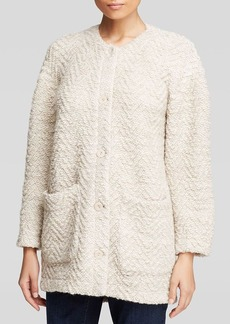 Eileen Fisher Chevron Knit Jacket