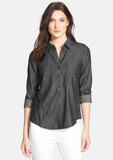 Eileen Fisher Classic Collar Denim Chambray Shirt