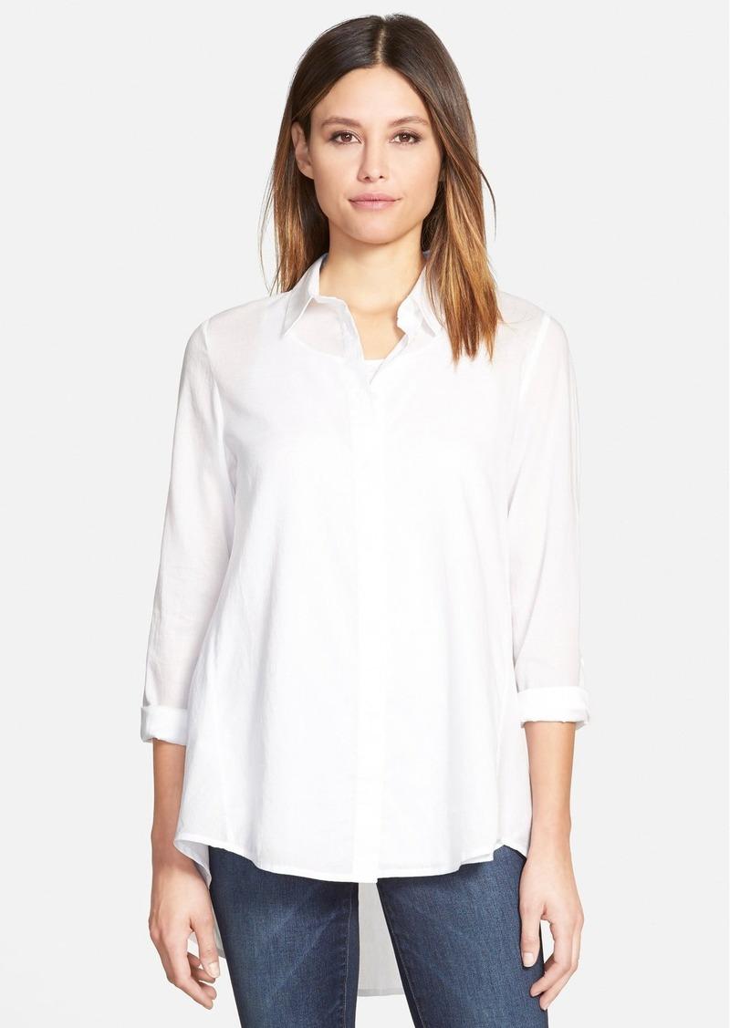 Eileen fisher eileen fisher classic collar organic cotton for Eileen fisher organic cotton t shirt