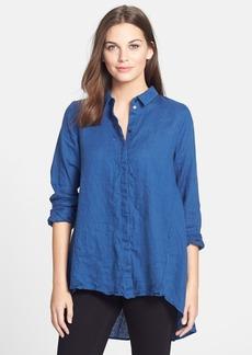 Eileen Fisher Classic Collar Organic Linen Shirt (Regular & Petite)