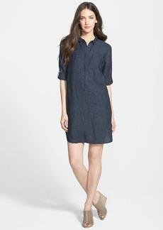 Eileen Fisher Classic Collar Organic Linen Shirtdress (Online Only)