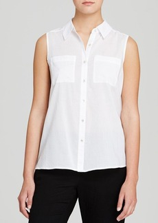Eileen Fisher Classic Collar Sleeveless Shirt