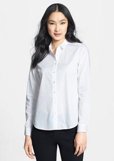Eileen Fisher Classic Collar Stretch Organic Cotton Shirt