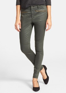 Eileen Fisher The Fisher Project Coated Denim Skinny Moto Jeans