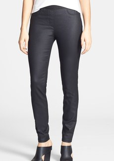 Eileen Fisher The Fisher Project Coated Stretch Cotton Skinny Pants