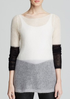 Eileen Fisher Color Block Mohair Sweater - The Fisher Project