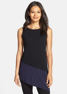 Eileen Fisher Colorblock Asymmetrical Jersey Tunic