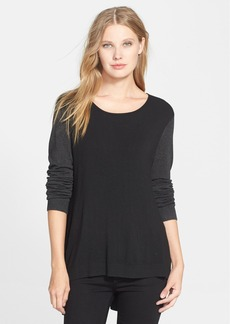 Eileen Fisher Colorblock Stretch Knit Sweater (Regular & Petite)