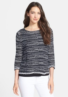 Eileen Fisher Cotton Tape Yarn Boxy Top (Regular & Petite)