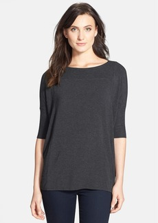 Eileen Fisher 'Cozy' Bateau Neck Boxy Top (Online Only)