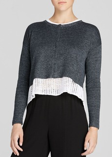 Eileen Fisher Cropped Linen Cardigan